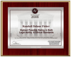 Award to Randall Fisher for the highest possible ratings in legal ability & ethical standards